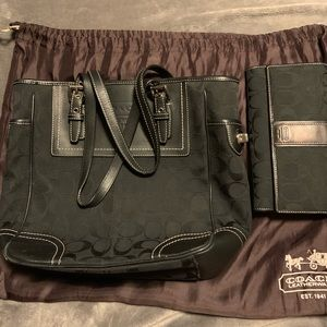 Coach purse and wallet bundle.